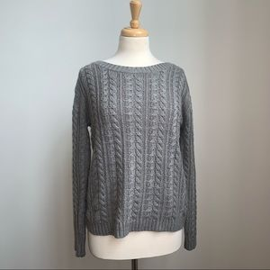 Joe Fresh grey cable knit sweater